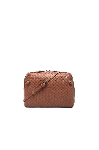 Bottega Veneta Woven Messenger Bag in Toscana
