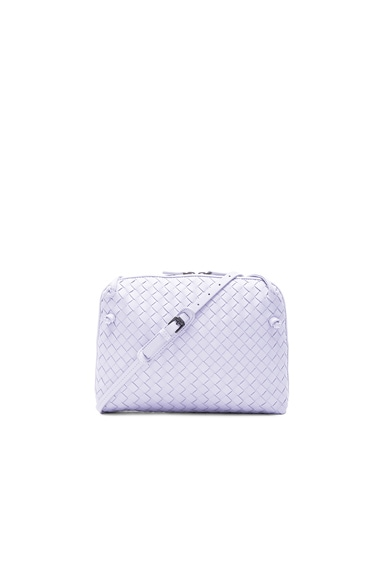 Bottega Veneta Woven Messenger Bag in Oyster