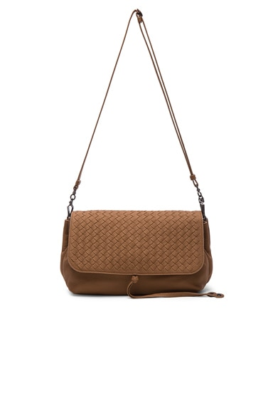 Bottega Veneta Woven Satchel in New Cigar