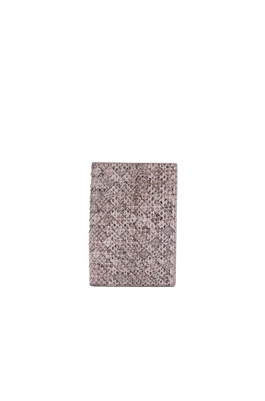 Bottega Veneta Woven Ayers Wallet in Rose Buvard