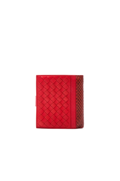 Woven Leather & Ayers Wallet