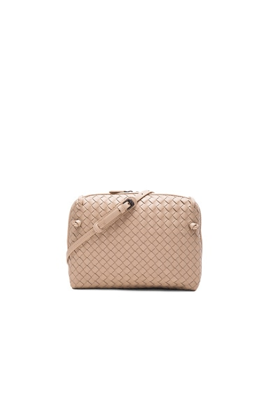 Bottega Veneta Woven Leather Shoulder Bag in Mink