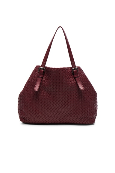 Bottega Veneta Large Woven Tote in Barolo