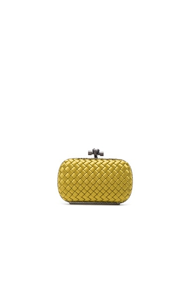 Bottega Veneta Knot Clutch in Ancient Gold