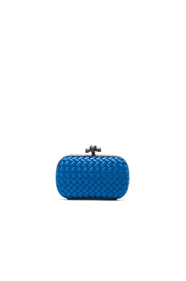 Bottega Veneta Knot Clutch in Peacock