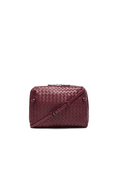 Bottega Veneta Woven Leather Shoulder Bag in Barolo