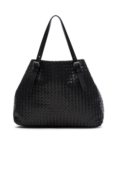 Bottega Veneta Large Woven Tote in Nero