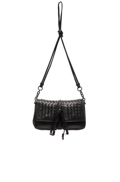 Bottega Veneta Nappa Charcoal Shoulder Bag in Nero