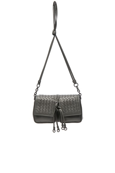 Nappa Charcoal Shoulder Bag