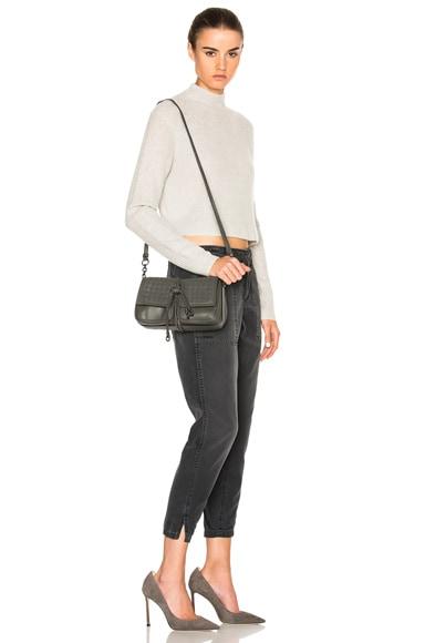 Nappa Charcoal Shoulder Bag