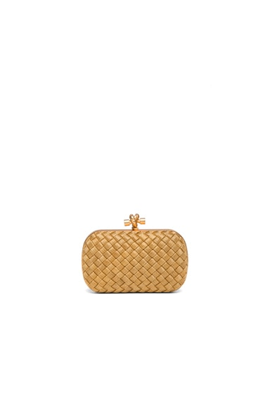 Bottega Veneta Knot Clutch in Gold