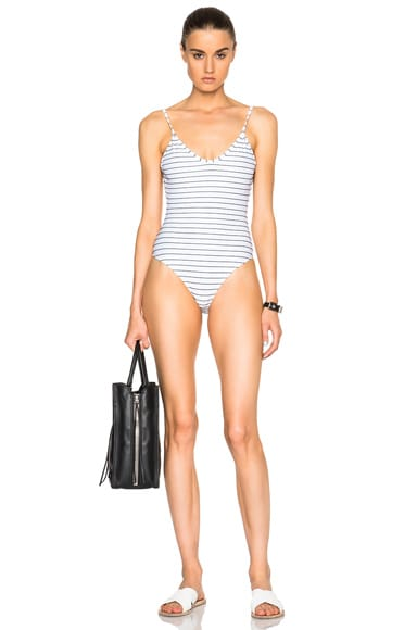 Bower Hutton One Piece Swimsuit in Breton Blanc