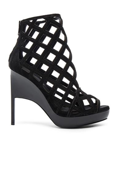 Burberry Prorsum Suede Edenside Heels in Black