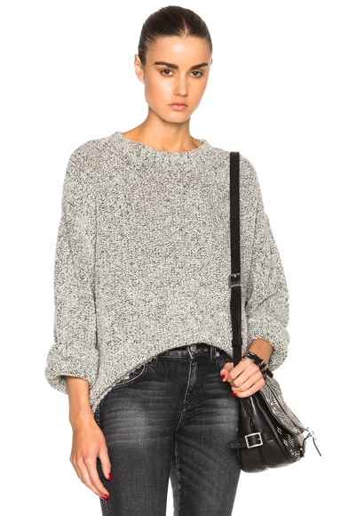 Brock Collection Cashmere Komo Sweater in Black & White