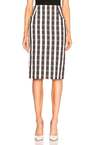 Brock Collection Sam Skirt in Brown & White
