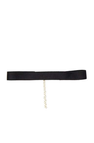 Bartoli Thin Satin Choker in Black