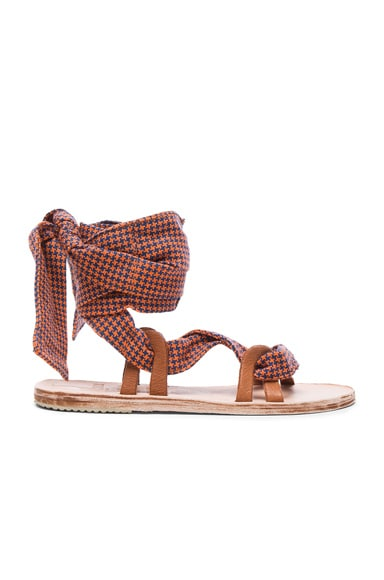Brother Vellies Zanzibar Sandals in Sunset Check