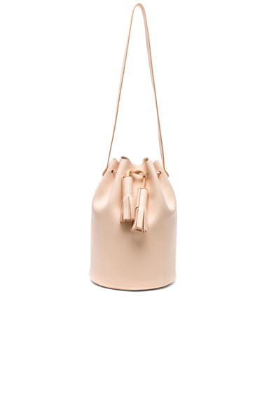 Building Block Bucket Bag in Nude