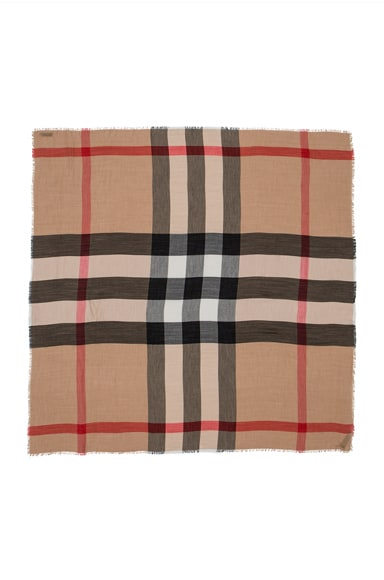 Lightweight London Check Travel Scarf