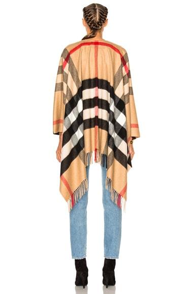 Collette Merino Wool Cashmere Check Cape