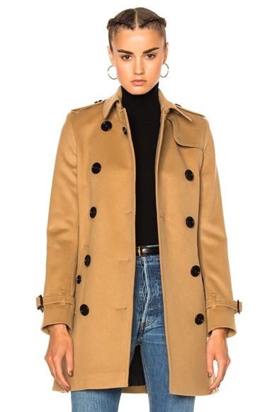 Burberry Kensington Trench in Camel