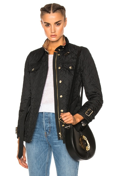 Burberry Haddingfield Quilted Field Jacket in Black
