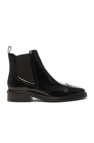 Burberry Leather Bactonul Boots in Black