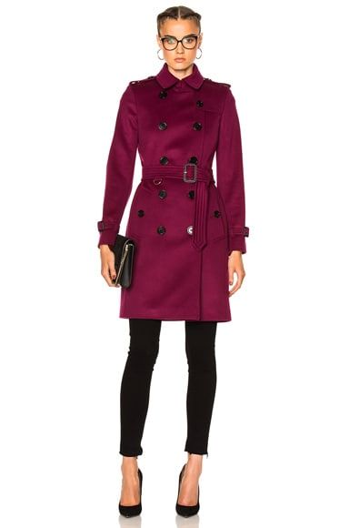 Burberry London Trench Coat in Cherry Pink