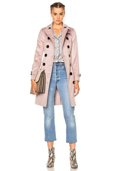 Burberry London Slim Trench Coat in Pale Orchid