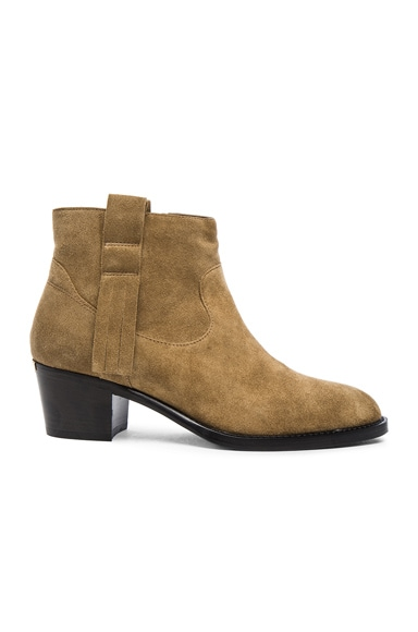 Burberry London Coletta Suede Ankle Boots in Sandstone