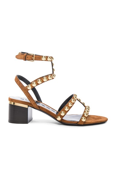 Burberry London Suede Philly Sandals in Malt Brown
