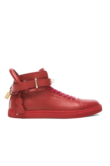 100 MM High Top Leather Sneakers
