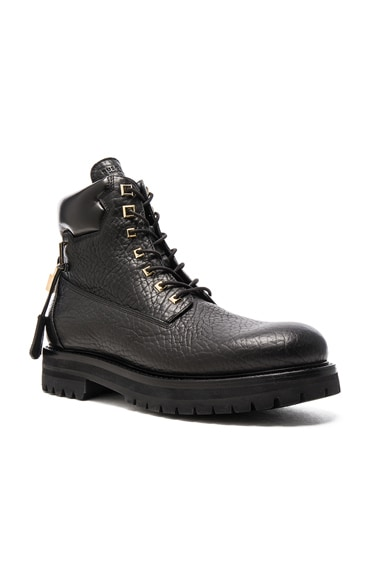 Buscemi Leather Site Boots in Black