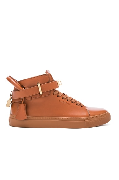 100MM Box Leather Sneakers