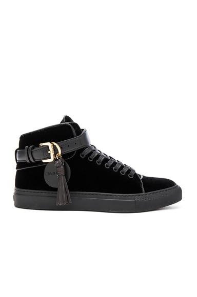 100MM Tassel Velvet Sneakers