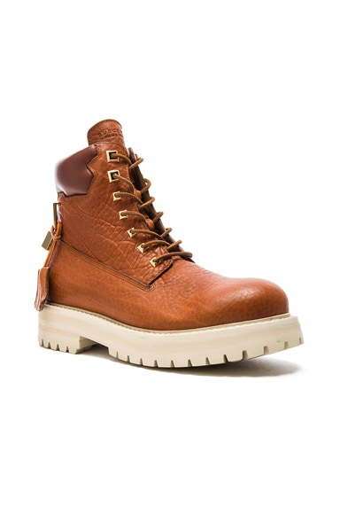 Buscemi Leather Site Boots in Whiskey