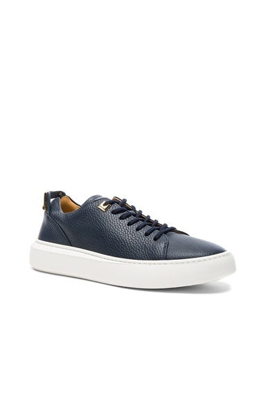 Buscemi 50MM Pebbled Leather Alce Sneakers in Navy