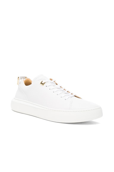 Buscemi 50MM Pebbled Leather Alce Sneakers in White