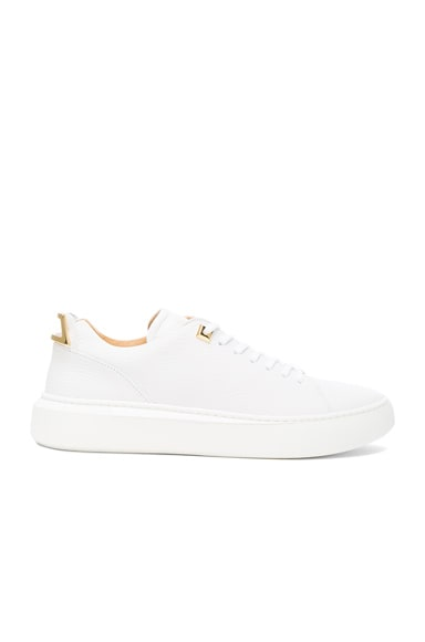 50MM Pebbled Leather Alce Sneakers