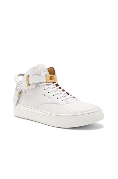 100MM Leather Mid Sneakers