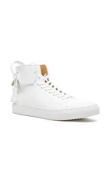 Buscemi 125 MM High Top Sneaker in White