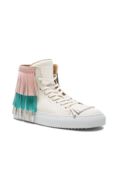 125MM Leather New Fringe Sneakers