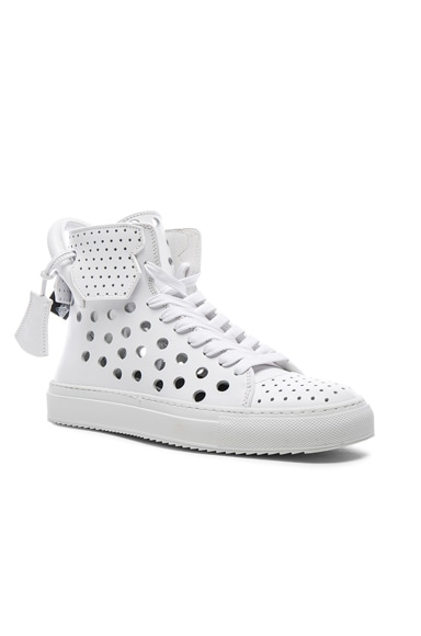 125MM Leather Round Hole Sneakers
