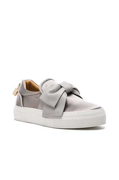 40MM Bow Satin Sneakers
