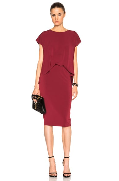 By Malene Birger Bixia Dress in Burgundy Red