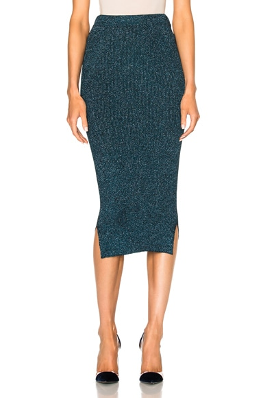 By Malene Birger Limon Skirt in Dusty Blue Melange