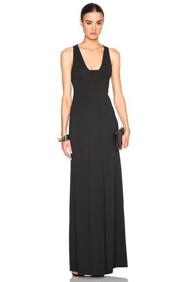 Calvin Klein Collection Fabiola Stretch Matt Cady Dress in Black
