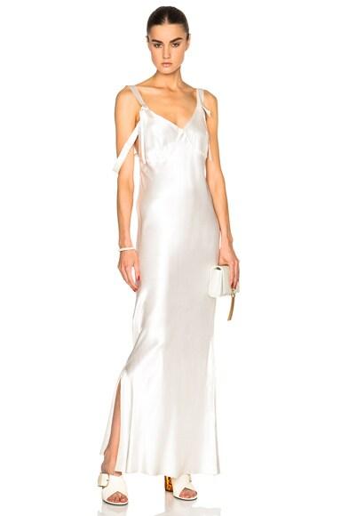 Calvin Klein Collection Gelder Evening Dress in Porcelain