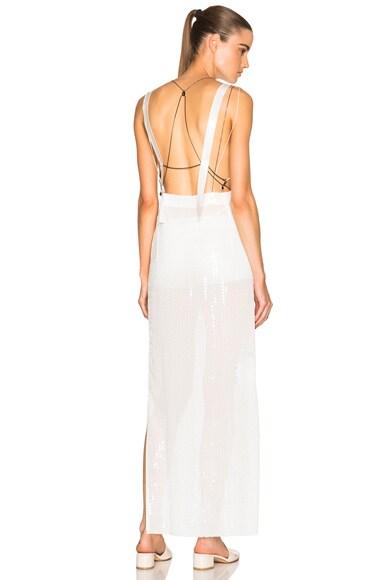 Calvin Klein Collection Gavis Evening Dress in Off White