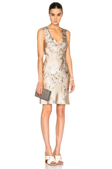 Calvin Klein Collection Galeas Dress in Bouquet Beige